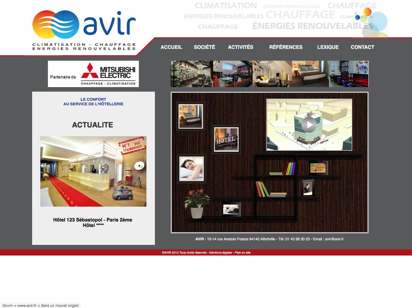 la société AVIR se spécialise dans le secteur informatique où les besoins en climatisation